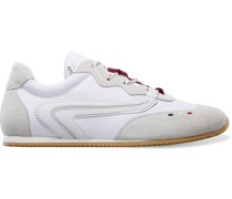 2 Moncler 1952 Seventy Leather-Trimmed Suede and Shell Sneakers