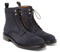 Felix Pebble-grain Suede Brogue Boots