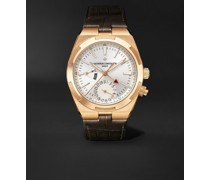 Overseas Dual Time Automatic 41mm 18-Karat Pink Gold and Alligator Watch, Ref. No. 7900V/000R-B336