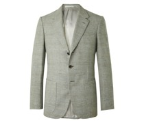 Conrad Slim-Fit Checked Wool Suit Jacket