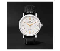 Portofino Automatic 40mm Stainless Steel and Alligator Watch, Ref. No. IW356517