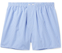 Gingham Cotton Boxer Shorts
