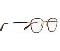 Grant Square-frame Acetate And Gold-tone Optical Glasses