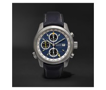 ALT1-B Automatic GMT Chronograph 43mm Stainless Steel and Leather Watch, Ref. ALT1-B-R-S