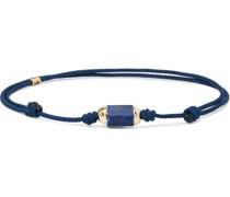 Lapis Lazuli, 14-Karat Gold and Cord Bracelet