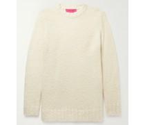 Teddy Racing Cashmere, Baby Alpaca and Silk-Blend Bouclé Sweater