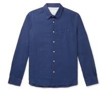 Benoit Slim-Fit Cotton and Linen-Blend Shirt