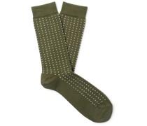 Birdseye Cotton-Blend Socks