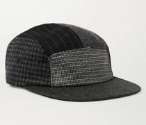 Patchwork Wool-Blend Baseball Cap
