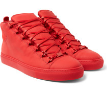Suede And Leather High-top Sneakers