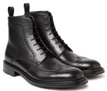 Felix Water-resistant Polished-leather Wingtip Brogue Boots