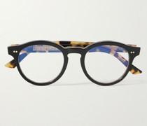 1378 Round-Frame Acetate Blue Light-Blocking Optical Glasses