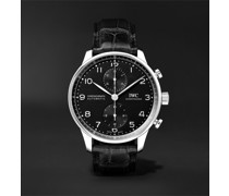 Portugieser Automatic Chronograph 41mm Stainless Steel and Alligator Watch, Ref. No. IW371609