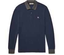 Slim-fit Contrast-trimmed Cotton-piqué Polo Shirt