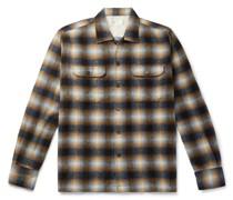Texas Checked Wool-Blend Shirt