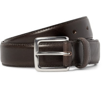 3cm Dark-brown Leather Belt
