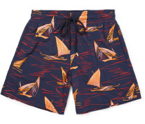 Mistral Mid-length Embroidered Swim Shorts