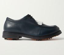 Leather Kiltie Derby Golf Shoes