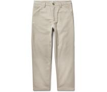 Allan Cotton-blend Twill Trousers