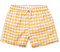 Noronha Slim-fit Short-length Printed Swim Shorts