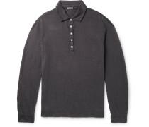 Linen-piqué Polo Shirt