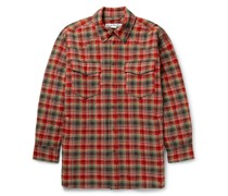 Oxton Oversized Quilted Checked Woven Overshirt