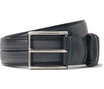 3.5cm Grey Gaspard Leather Belt