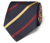 8cm Striped Silk-twill Tie