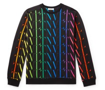 Logo-Print Cotton-Blend Jersey Sweatshirt
