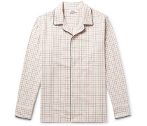 Henry Piped Checked Cotton Pyjama Shirt
