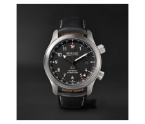 MBIII Black Bronze Automatic GMT 43mm Stainless Steel and Leather Watch, Ref. MBIII-BK-BZ-R-S