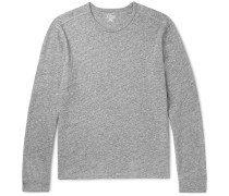Mélange Cotton-jersey Long-sleeve T-shirt