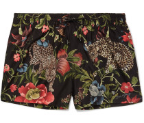 Slim-fit Short-length Printed Shell Swim Shorts