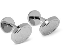 Engraved Silver-tone Cufflinks