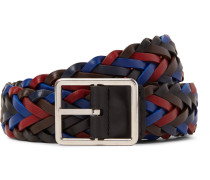3cm Reversible Woven Leather Belt