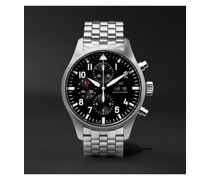 Pilot's Automatic Chronograph 43mm Stainless Steel Watch, Ref. No. IW377710