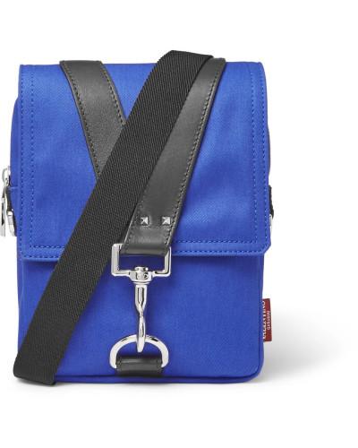 Valentino Herren Valentino Garavani Leather-trimmed Canvas Messenger Bag Bester Speicher Billig Online Zu Bekommen VSStxP9IB