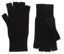 Kaden Ribbed Cashmere Fingerless Gloves