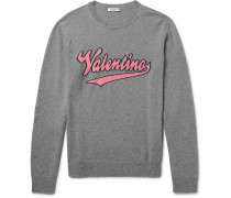Slim-fit Intarsia Mélange Virgin Wool And Cashmere-blend Sweater