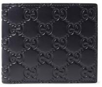 Gg Debossed Leather Billfold Wallet