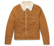 Slim-fit Faux Shearling-lined Cotton-twill Jacket