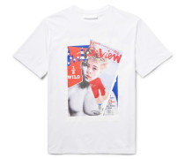Mark Dicaprio Printed Cotton-jersey T-shirt