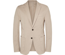 Stone Narvik Slim-fit Stretch-cotton Twill Blazer