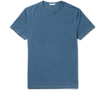 Edvin Mélange Stretch-cotton T-shirt