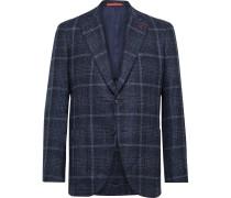 Slim-Fit Checked Wool-Blend Bouclé Blazer