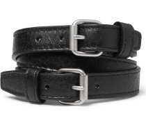 Wrapped Creased-leather Bracelet