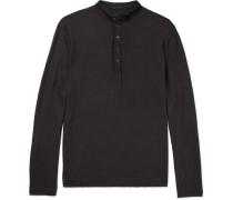 Garment-dyed Cotton Henley T-shirt