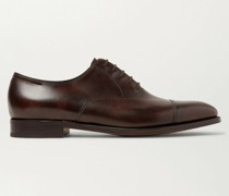 City II Burnished-Leather Oxford Shoes