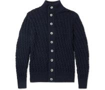 Stark Basketweave Virgin And Merino Wool-blend Cardigan