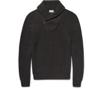Shawl-collar Honeycomb-knit Cashmere Sweater